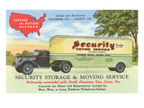 Security Moving and Storage Advertisement Posters