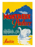 Travel Poster for Montreux, Switzerland Prints