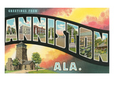 Greetings from Anniston, Alabama Prints