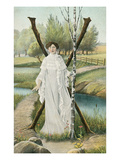 Lady Standing by Crossed Trees, X Affiches
