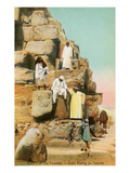 Arab Guides at Pyramids, Egypt Posters