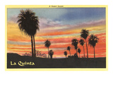 A Desert Sunset, La Quinta, California Art