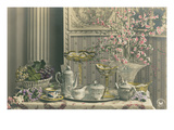 Old-Fashioned Tea Service Poster