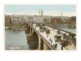 Vintage London Bridge Póster