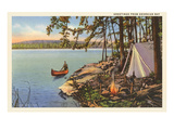 Greetings from Georgian Bay, Canada Print