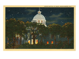 Capitol at Night, Montgomery, Alabama Prints