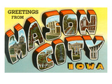 Greetings from Mason City, Iowa Posters