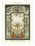 Art Nouveau Stained Glass Affiches