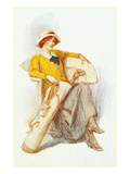 Flapper with Bag of Golf Clubs Prints