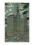Wrigley Building at Night, Chicago, Illiniois Posters
