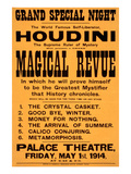 Houdini Poster, Magical Revue Prints