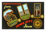 Greetings from S.U.I., Iowa City, Iowa Prints