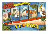 Greetings from Cocoa, Florida Print