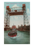 Halsted Street Lift Bridge, Chicago, Illiniois Poster