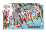 Greetings from Hollywood, Florida Print