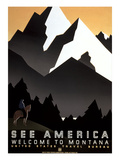 See America, Montana Travel Poster Prints