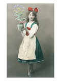 Dutch Girl Holding Vase Art
