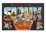 Greetings from Sioux City, Iowa Print