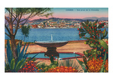 View from La Croisette, Cannes, France Posters