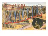 Greetings from the Badlands, South Dakota Art