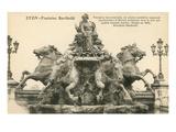 Bartholdi Fountain, Lyon, France Prints