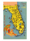 Come to Stuart, Florida Prints