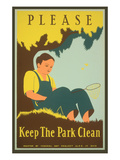Please Keep the Park Clean, Boy with Net Prints