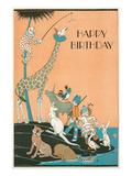 Happy Birthday, Marooned Circus Print