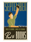 September, Back to Books Poster Poster