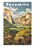 Travel Poster for Yosemite National Park Posters