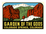 Decal for Garden of the Gods, Colorado Springs Posters