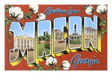 Greetings from Macon, Georgia Posters