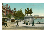 Boadicea Statue, Thames Embankment, London Affiches