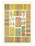Persian Floral Motifs Art