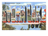 Greetings from Storm Lake, Iowa Posters