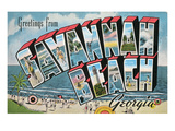 Greetings from Savannah Beach, Georgia Print