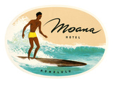Moana Hotel, Honolulu, Hawaii Prints