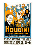 Do Spirits Return, Houdini Poster Prints