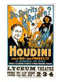 Do Spirits Return, Houdini Poster Prints