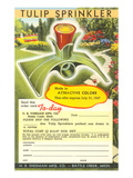 Tulip Lawn Sprinkler Advertisement Prints
