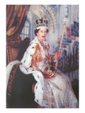 Young Queen Elizabeth II Prints