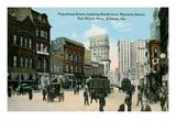 Vintage Peachtree Street, Atlanta, Georgia Prints