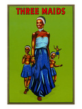 Three Maids, African Girls Posters