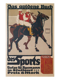 Ad for Golden Book of Sports, Polo Poster