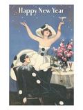 Happy New Year, Pierrot Celebrating Prints
