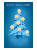 Merry Chrisnukkah, Tree with Candles Print