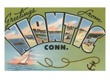 Greetings from Niantic, Connecticut Posters