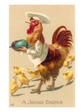 A Joyous Easter, Rooster Chef Poster