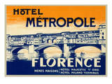 Hotel Metropole, Florence, Italy Prints