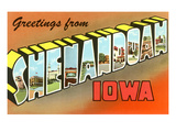 Greetings from Shenandoah, Iowa Posters